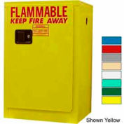 Securall® 12-Gallon, Manual Close, Flammable Cabinet Md Green