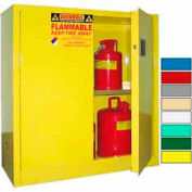Securall® 43x18x44 30-Gallon, Manual Close, Flammable Cabinet Yellow