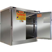 "Securall® 30-Gallon 43""W Manual Close, Flammable Cabinet Stainless Steel"