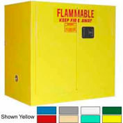 Securall® 36x24x35 30-Gallon, Manual Close, Flammable Cabinet Ag Green