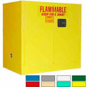 Securall® 36x24x35 30-Gallon, Manual Close, Flammable Cabinet Yellow