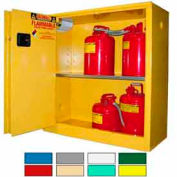 Securall® 43x18x44 30-Gallon Sliding Door, Flammable Cabinet Yellow