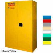 Securall® 45-Gallon Sliding Door, Flammable Cabinet Ag Green