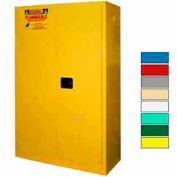 Securall® 45-Gallon Sliding Door, Flammable Cabinet Yellow