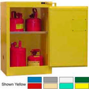 Securall® 12-Gallon, Self-Close Flammable Cabinet Md Green