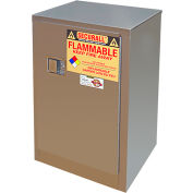 Securall® 12-Gallon Sliding Door Flammable Cabinet Stainless Steel