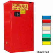 Securall® 16-Gallon, Self-Close Flammable Cabinet Yellow