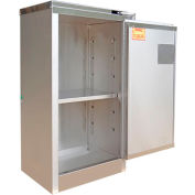 Securall® 16-Gallon Flammable Cabinet Stainless Steel, Self-Close