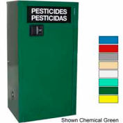 Securall® 12-Gallon Manual Close, Pesticide Cabinet Red