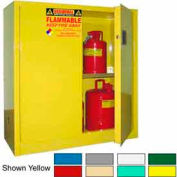 Securall® 30-Gallon Manual Close, Pesticide Cabinet Md Green