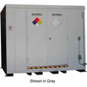 "Securall® 10'W x 8'D x 8' 4""H Agri-Chemical Storage Building 16 Drum"