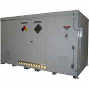"""Securall® 14'W x 8'D x 8' 4""""H Agri-Chemical Storage Building 24 Drum"""