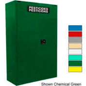 Securall® 45-Gallon Self-Close, Pesticide Cabinet Md Green