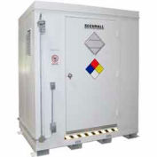 "Securall® 7'W x 5'D x 8' 4""H Agri-Chemical Storage Building 6 Drum"