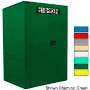 Securall® 60-Gallon Manual Close, Pesticide Cabinet Yellow