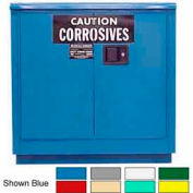 Securall® 24-Gallon Manual Close, Acid & Corrosive Cabinet Ag Green