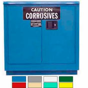 Securall® 24-Gallon Manual Close, Acid & Corrosive Cabinet Blue