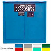 Securall® 30-Gallon Manual Close, Acid & Corrosive Cabinet Ag Green