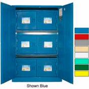 Securall® 45-Gallon Manual Close, Acid & Corrosive Cabinet Md Green