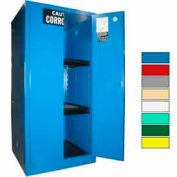 Securall® 60-Gallon Manual Close, Acid & Corrosive Cabinet Blue