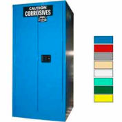 Securall® 60-Gallon Sliding Door, Acid & Corrosive Cabinet, Blue