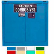 Securall® 30-Gallon, Self-Close, Acid & Corrosive Cabinet Blue