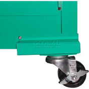 """Securall® Casters for 18"""" Deep Medical Gas Cabinets, Manual Close"""