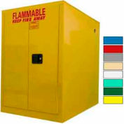 Securall® 60-Gallon, Sliding Door, Horizontal Flammable Drum Cabinet Yellow