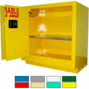 Securall® 24-Gallon Sliding Door Laboratory Cabinet Yellow