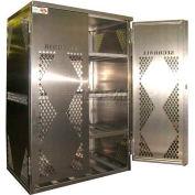 Securall® 12 Cylinder Horizontal Steel LP/Oxygen Cabinet Blue