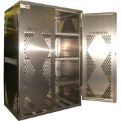 Securall® 12 Cylinder Horizontal Steel LP/Oxygen Cabinet Yellow