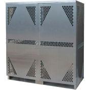 Securall® 16 Cylinder Horizontal Steel LP/Oxygen Cabinet Beige