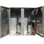 Securall® 16 Cylinder Vertical LP/Oxygen Cabinet Aluminum