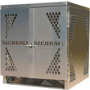 Securall® 4 Cylinder Horizontal Steel LP/Oxygen Cabinet Yellow