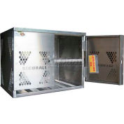 Securall® 6 Cylinder Horizontal Steel LP/Oxygen Cabinet Ag Green