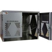 Securall® 6 Cylinder Vertical LP/Oxygen Cabinet Aluminum