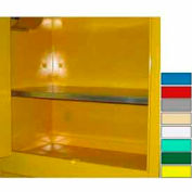 """Securall® Extra Shelf for Lab Cabinets 59"""" Wide Yellow"""