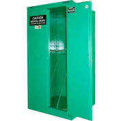 """Securall® 9, H Cylinder, Vertical Medical Fire Lined Gas Cabinet, 34""""W x 34""""D x 67""""H"""