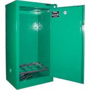 "Securall® 12, D & E Cylinder, Vertical Medical Gas Cabinet, 24""W x 18""D x 46""H, Self Close"