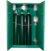 "Securall® 12, H Cylinder, Vertical Medical Fire Lined Gas Cabinet, 43""W x 34""D x 67""H"