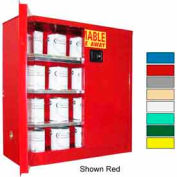 Securall® 40-Gallon Manual Close, Paint/Ink Cabinet Md Green