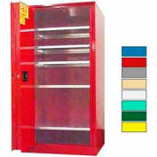 Securall® 120-Gallon, Sliding Door, Paint/Ink Cabinet Red