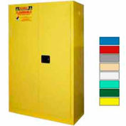 Securall® 60-Gallon, Sliding Door, Paint/Ink Cabinet Yellow
