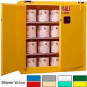 Securall® 40-Gallon, Self-Close, Paint/Ink Cabinet Ag Green