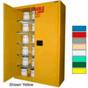 Securall® 60-Gallon, Self-Close,Paint/Ink Cabinet Ag Green