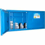 Securall® Polyethylene Cabinet for Harsh Acids/Corrosives Blue