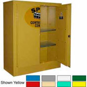 Securall® Wall Mountable, Flammable Spill Containment Cabinet Md Green