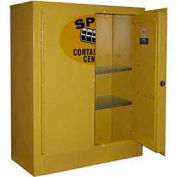 Securall® Wall Mountable, Flammable Spill Containment Cabinet Yellow