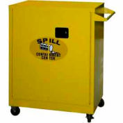 Securall® Mobile Counter High Flammable Spill Containment Cabinet Yellow