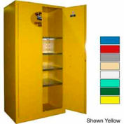 Securall® 36x24x72 Flammable Spill Containment Cabinet Blue